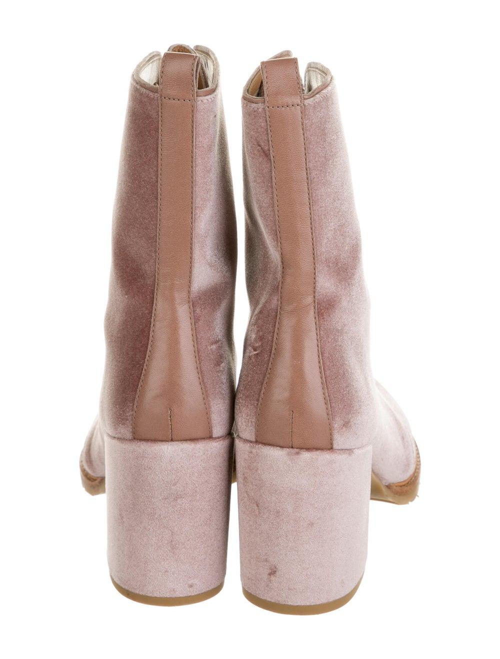 Stuart Weitzman Lace-Up Boots Pink - image 4