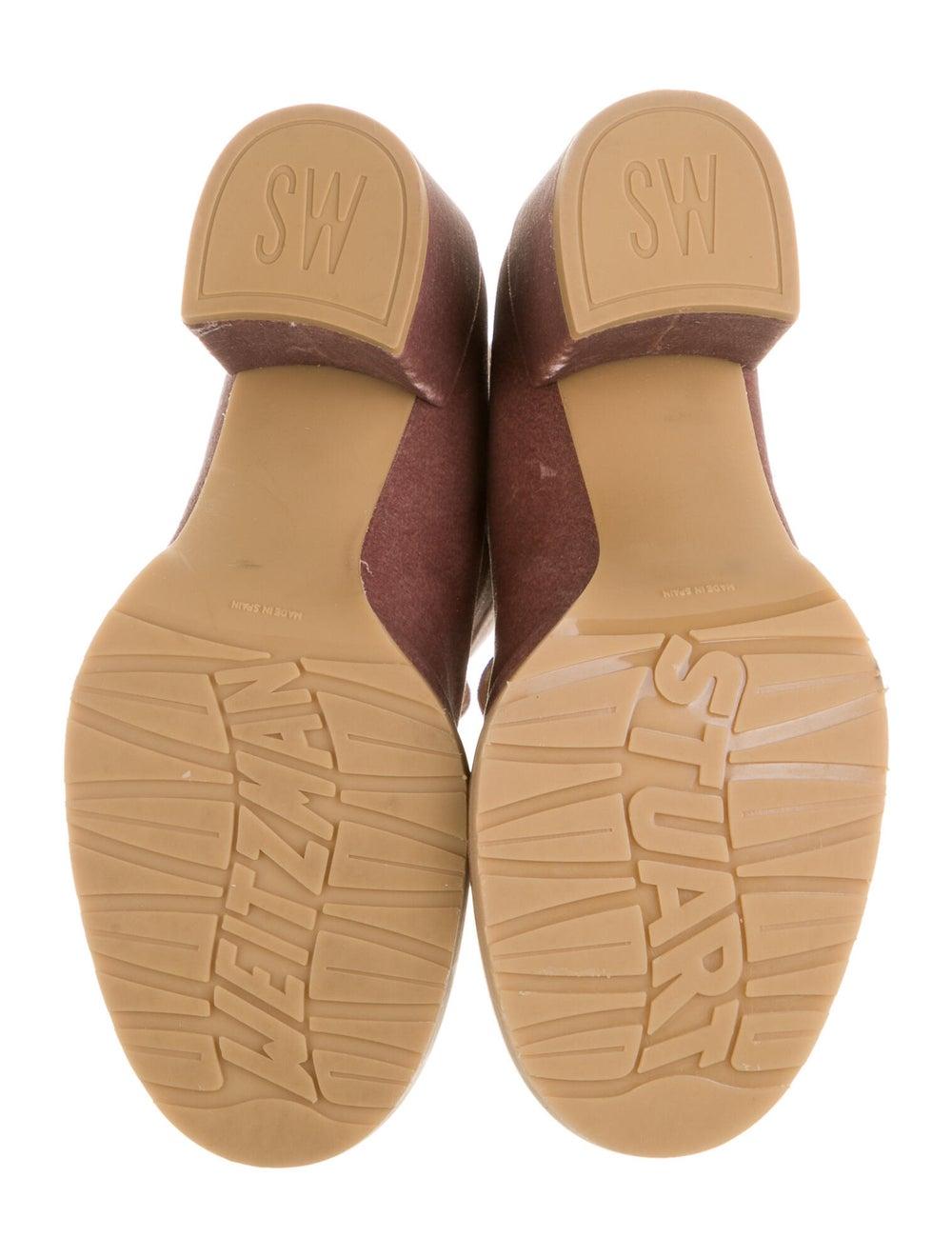 Stuart Weitzman Lace-Up Boots Pink - image 5