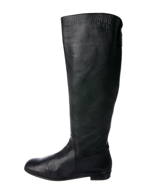 Stuart Weitzman Leather Riding Boots Black