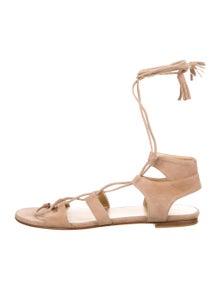 Stuart Weitzman Suede Gladiator Sandals