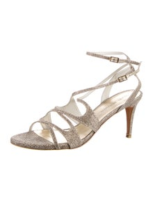 Stuart Weitzman Glitter Accents Sandals