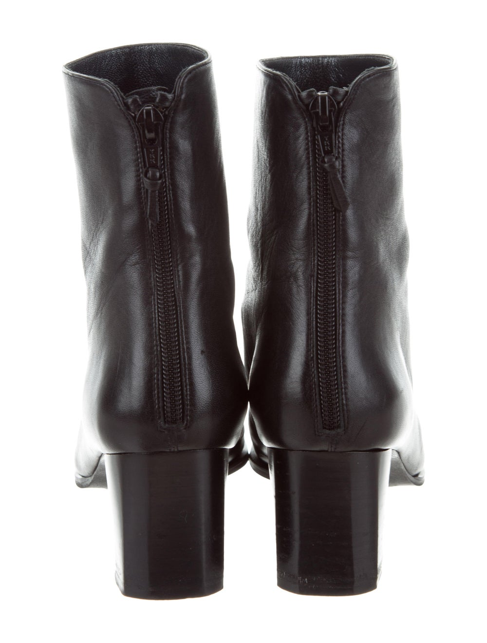Stuart Weitzman Leather Square-Toe Ankle Boots Bl… - image 4