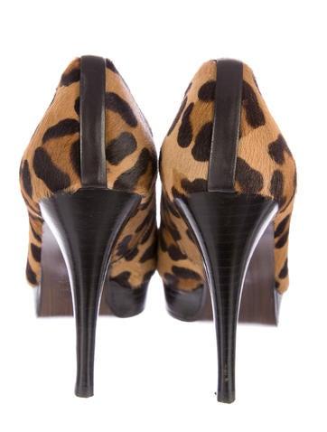 Leopard Print Ponyhair Booties