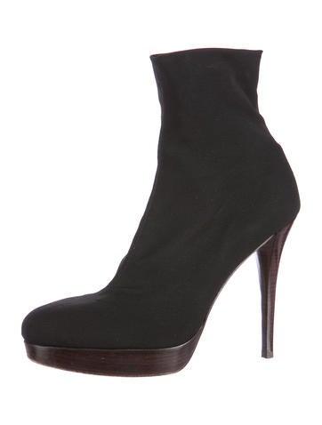 Nylon Platform Ankle Boots