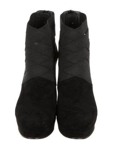 Suede Papoose Ankle Boots