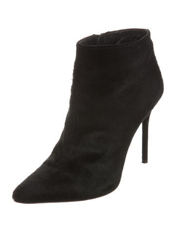 Hitimes Ponyhair Ankle Booties