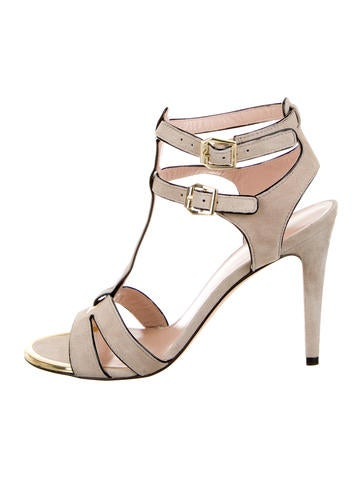 Suede Multistrap Sandals w/ Tags