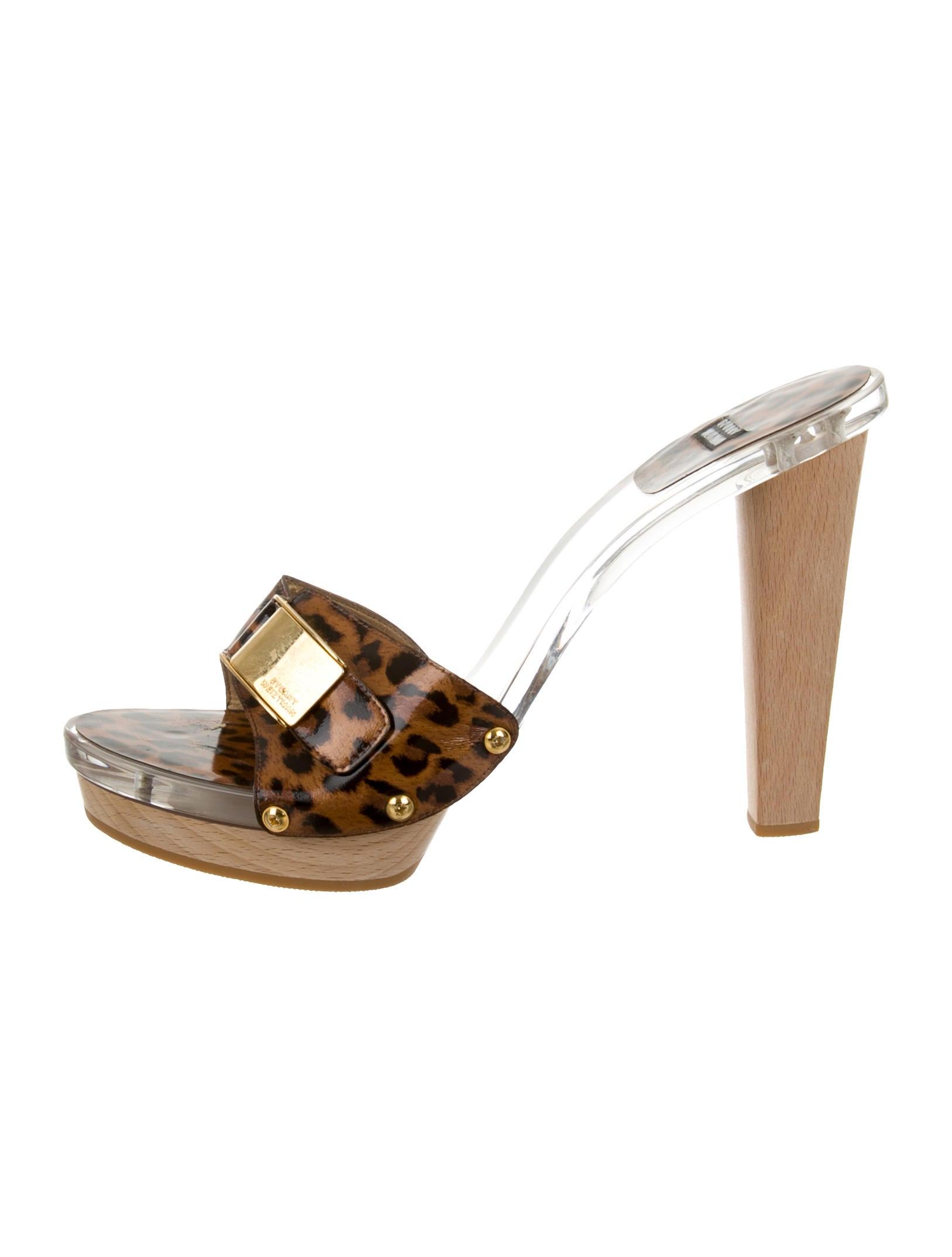 stuart weitzman leopard print platform sandals shoes