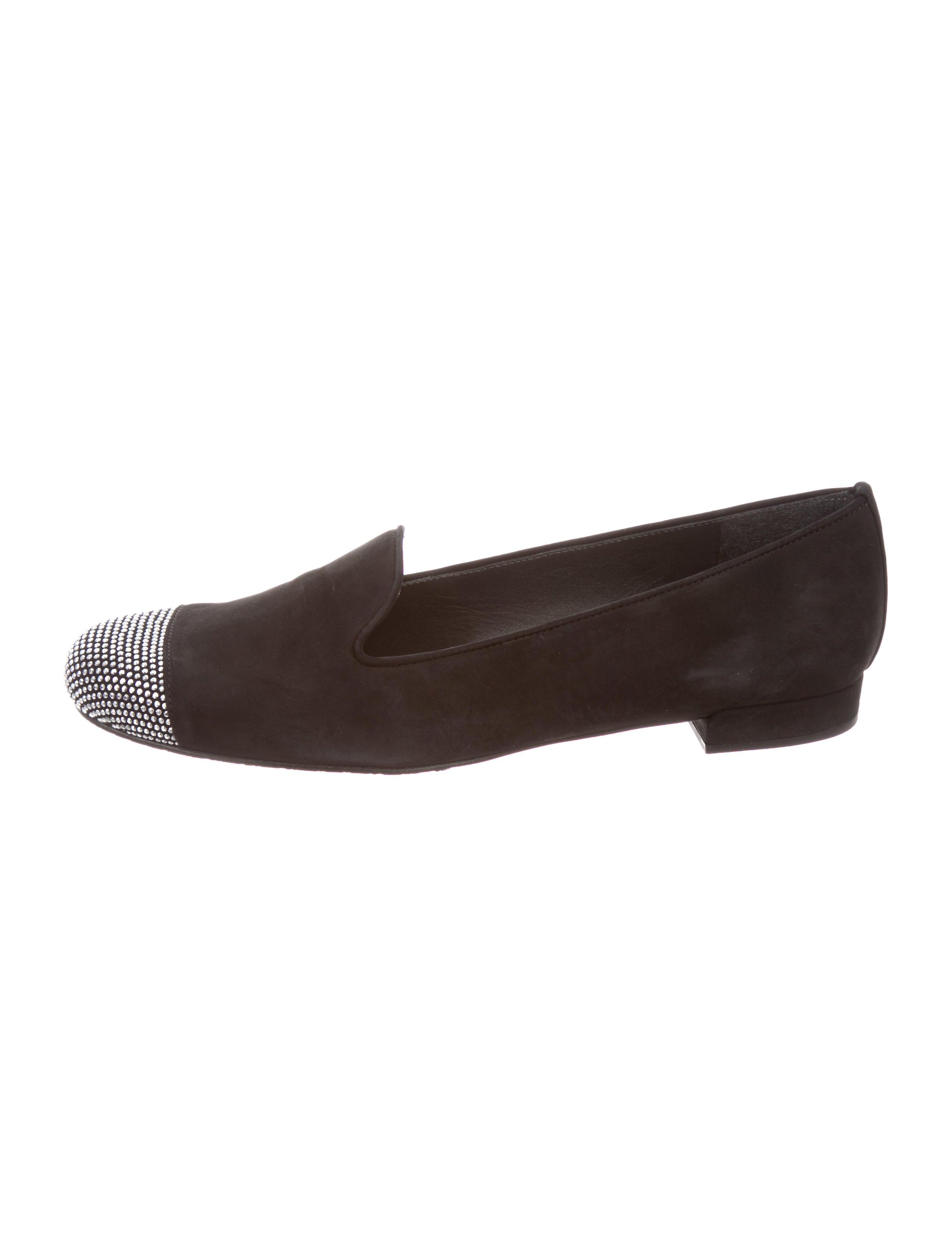 free shipping pay with paypal Stuart Weitzman stud embelished loafers high quality for sale 7DK2nkYb