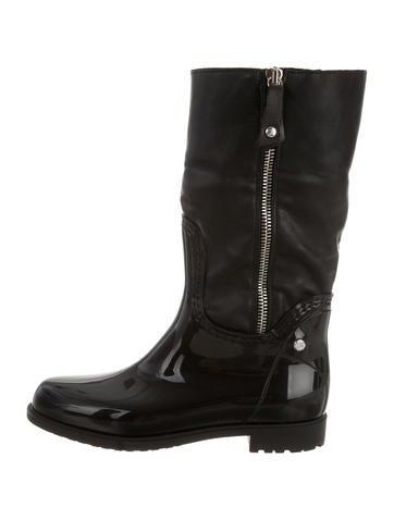 Fur-Trimmed Rain Boots