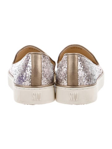 Sequined Round-Toe Sneakers
