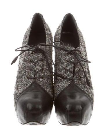Tweed Platform Booties