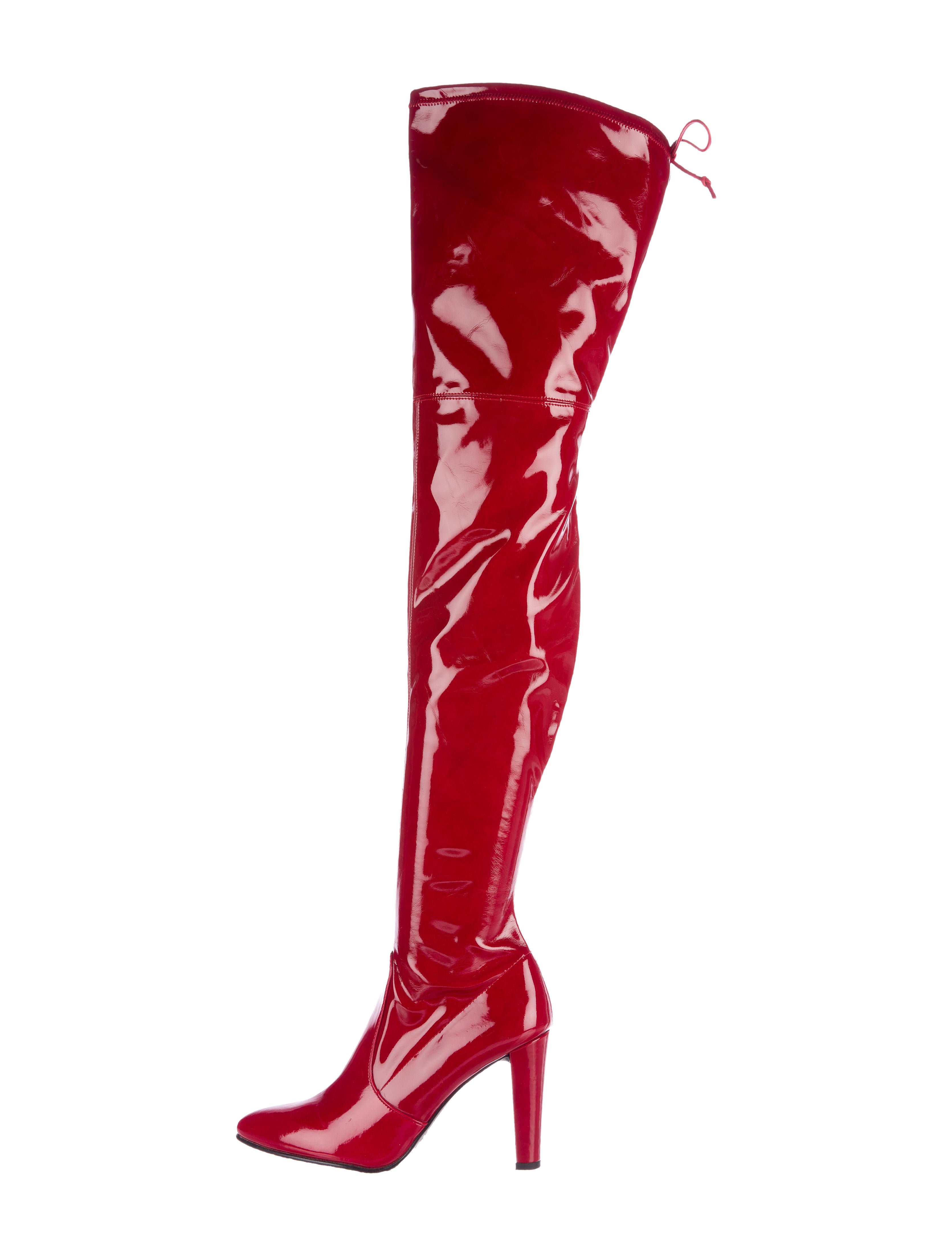 272b95ed06 ... Heel Red Patent Leather Women-s Knee-High. Stuart Weitzman Patent  Leather Thigh-High Boots - Shoes - WSU24845 .