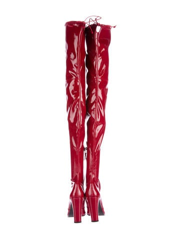 Patent Leather Thigh-High Boots