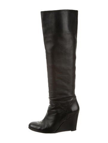 Stuart Weitzman Over-The-Knee Wedge Boots None