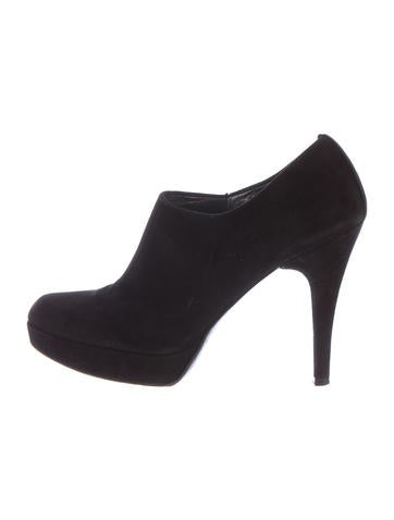 Stuart Weitzman Suede Round-Toe Ankle Boots None