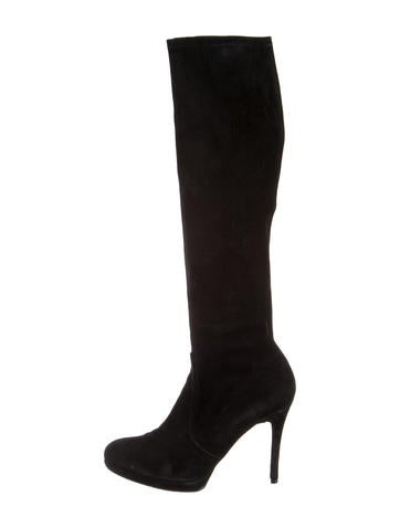 Stuart Weitzman Suede Knee-High Boots None