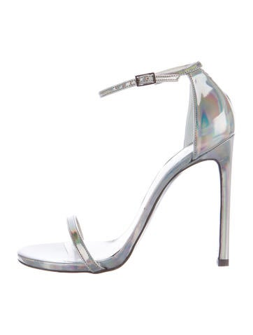Holographic Patent Leather Sandals