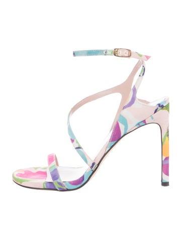 Floral Satin Sandals