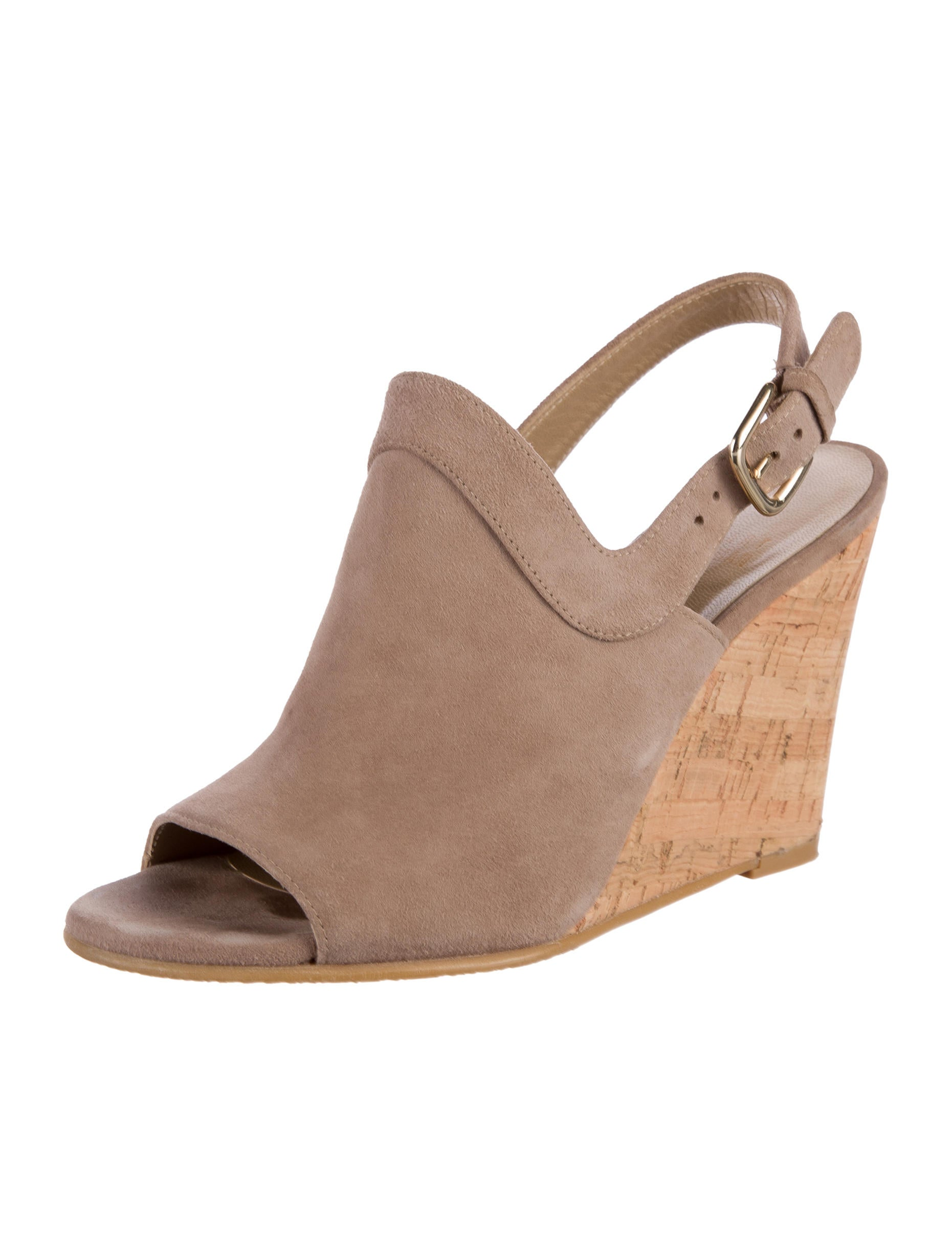 stuart weitzman suede wedge sandals shoes wsu26481