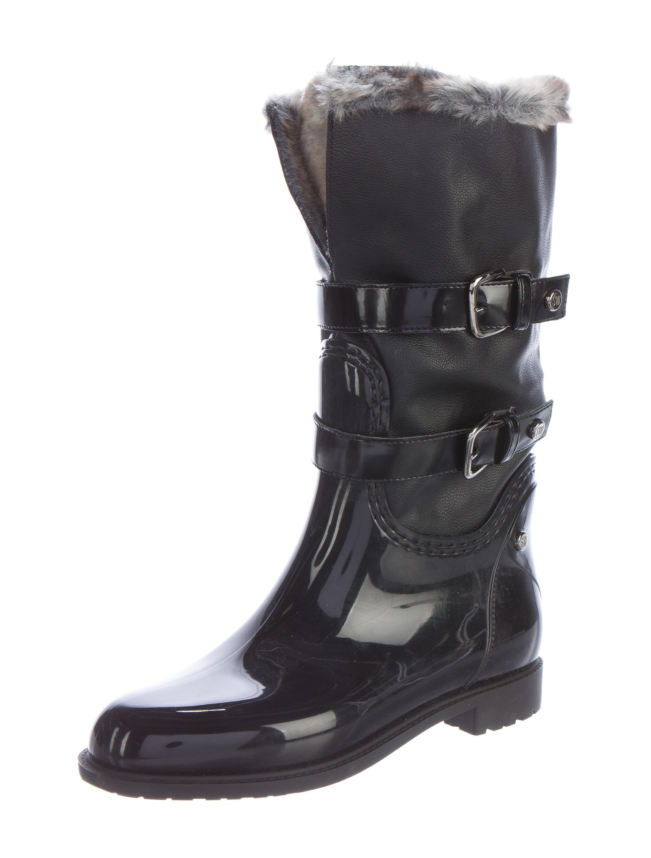 stuart weitzman rubber leather boots shoes wsu26538