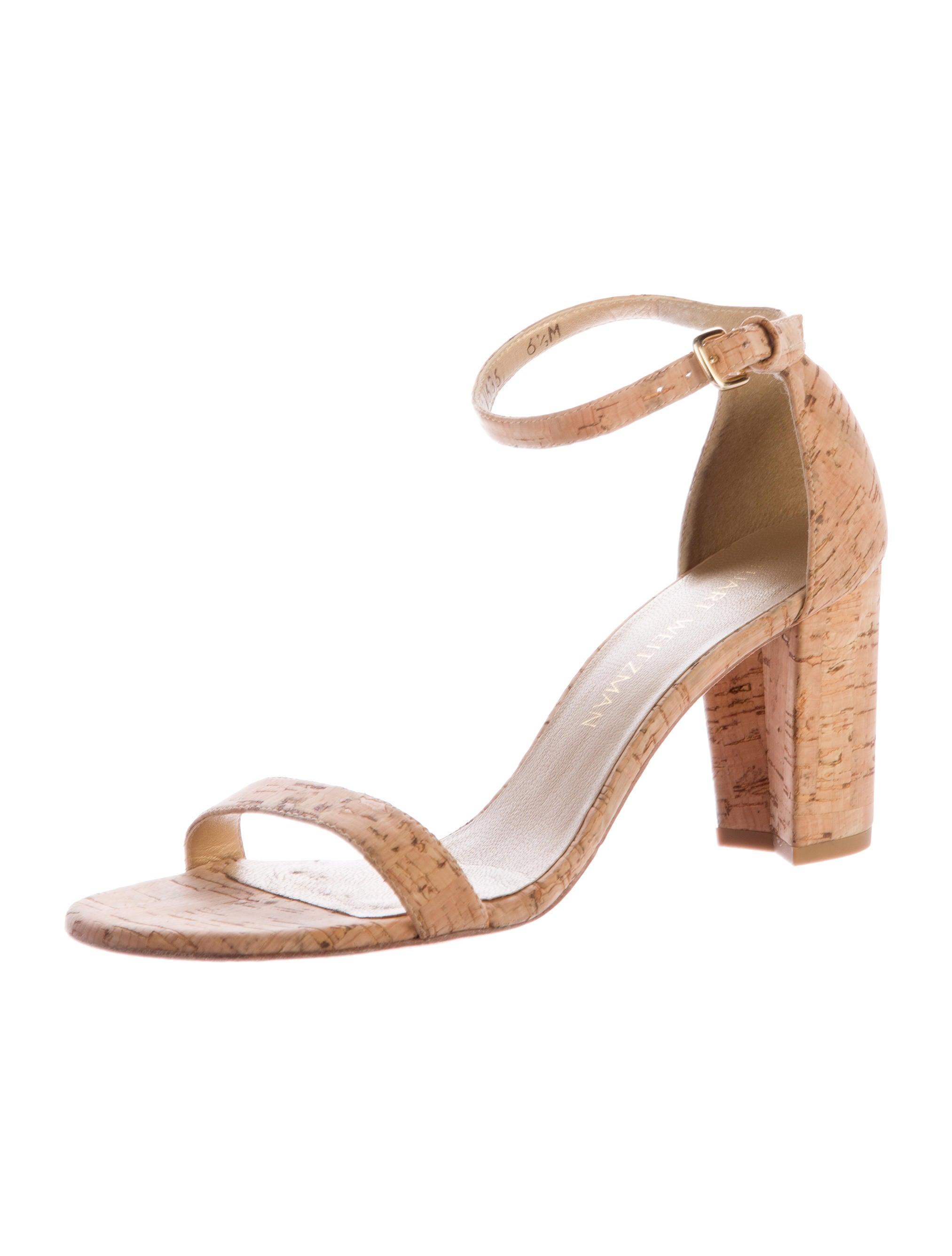 Stuart Weitzman Nearlynude Cork Sandals Shoes Wsu26614