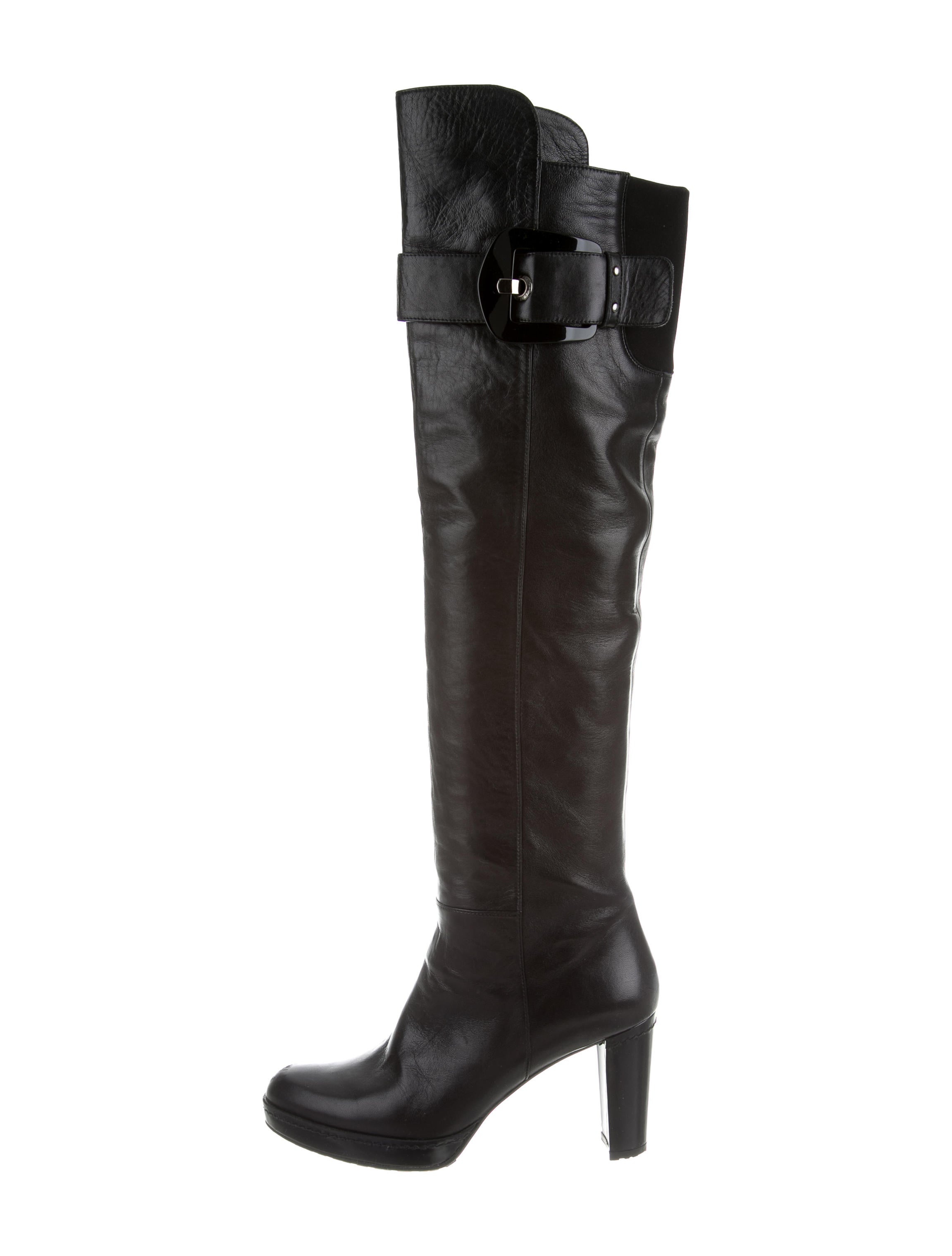 Stuart Weitzman Leather Over The Knee Boots Shoes  : WSU268721enlarged from www.therealreal.com size 2303 x 3039 jpeg 210kB
