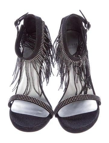Embellished Fringe Sandals w/ Tags