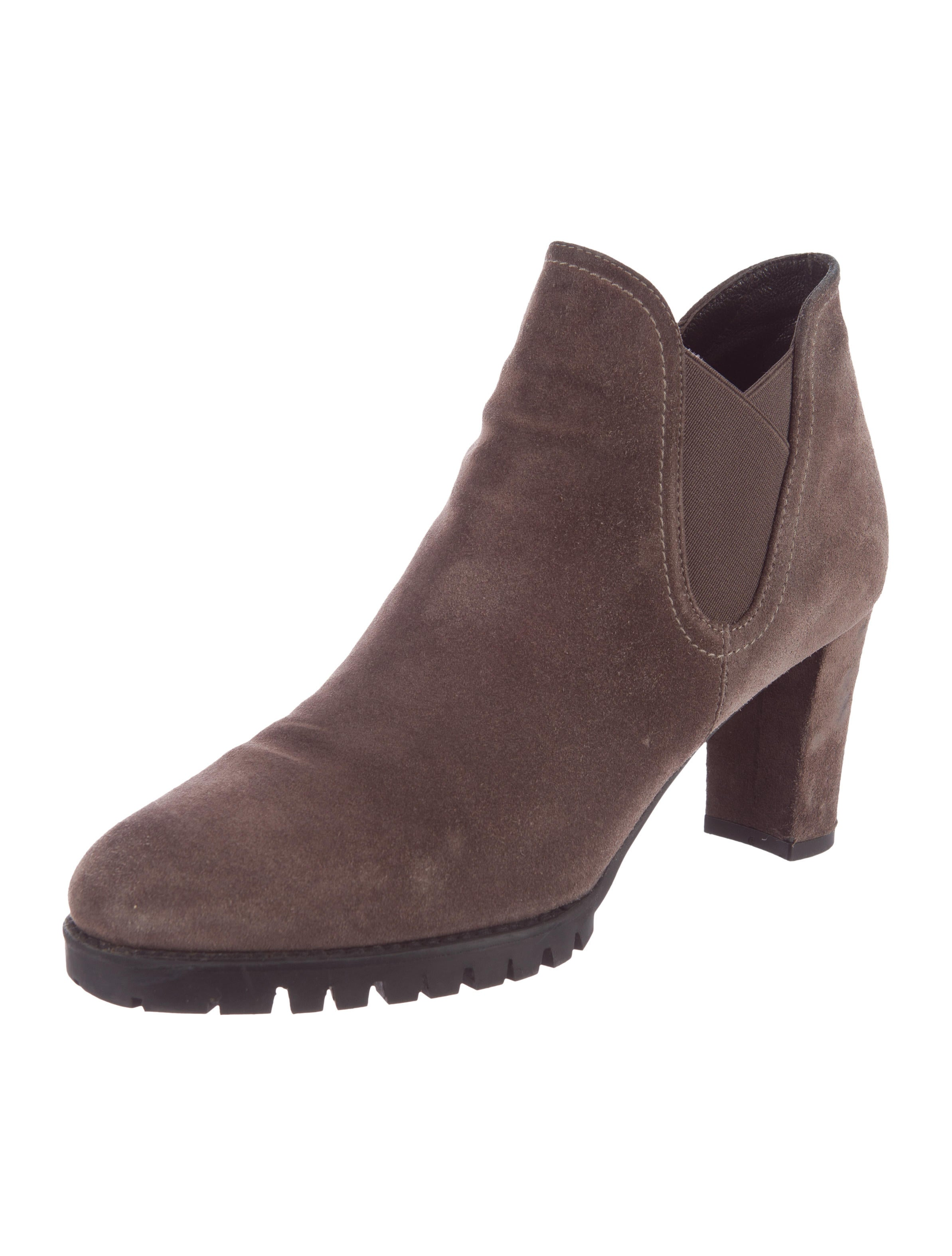 stuart weitzman suede leather ankle boots shoes
