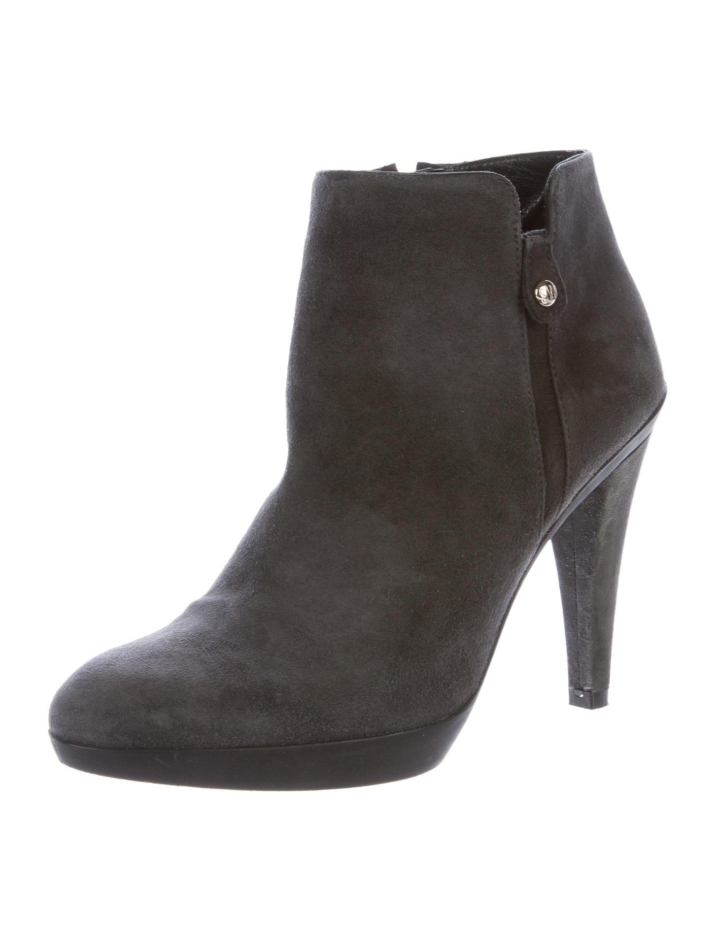 Stuart Weitzman Tablet Suede Ankle Boots Shoes