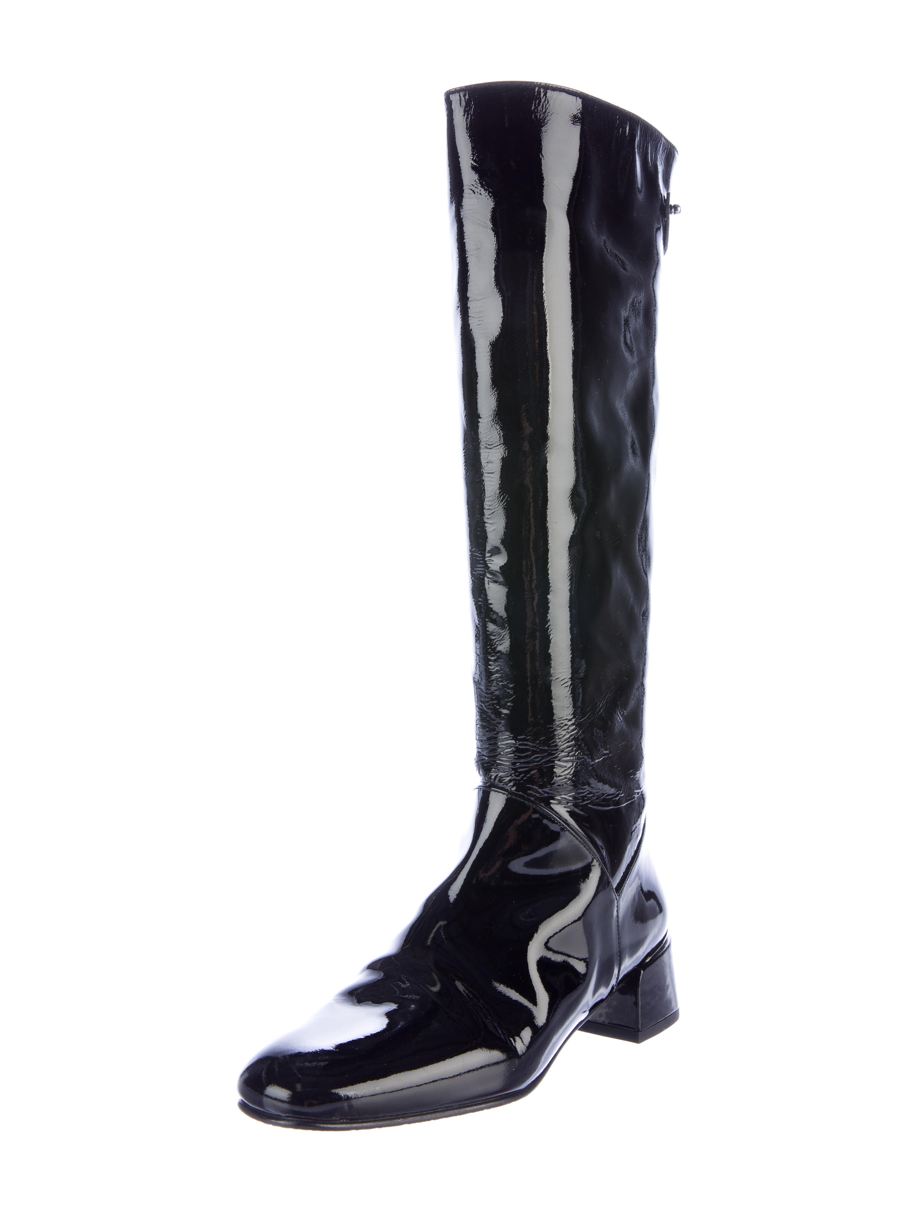stuart weitzman patent leather knee high boots shoes