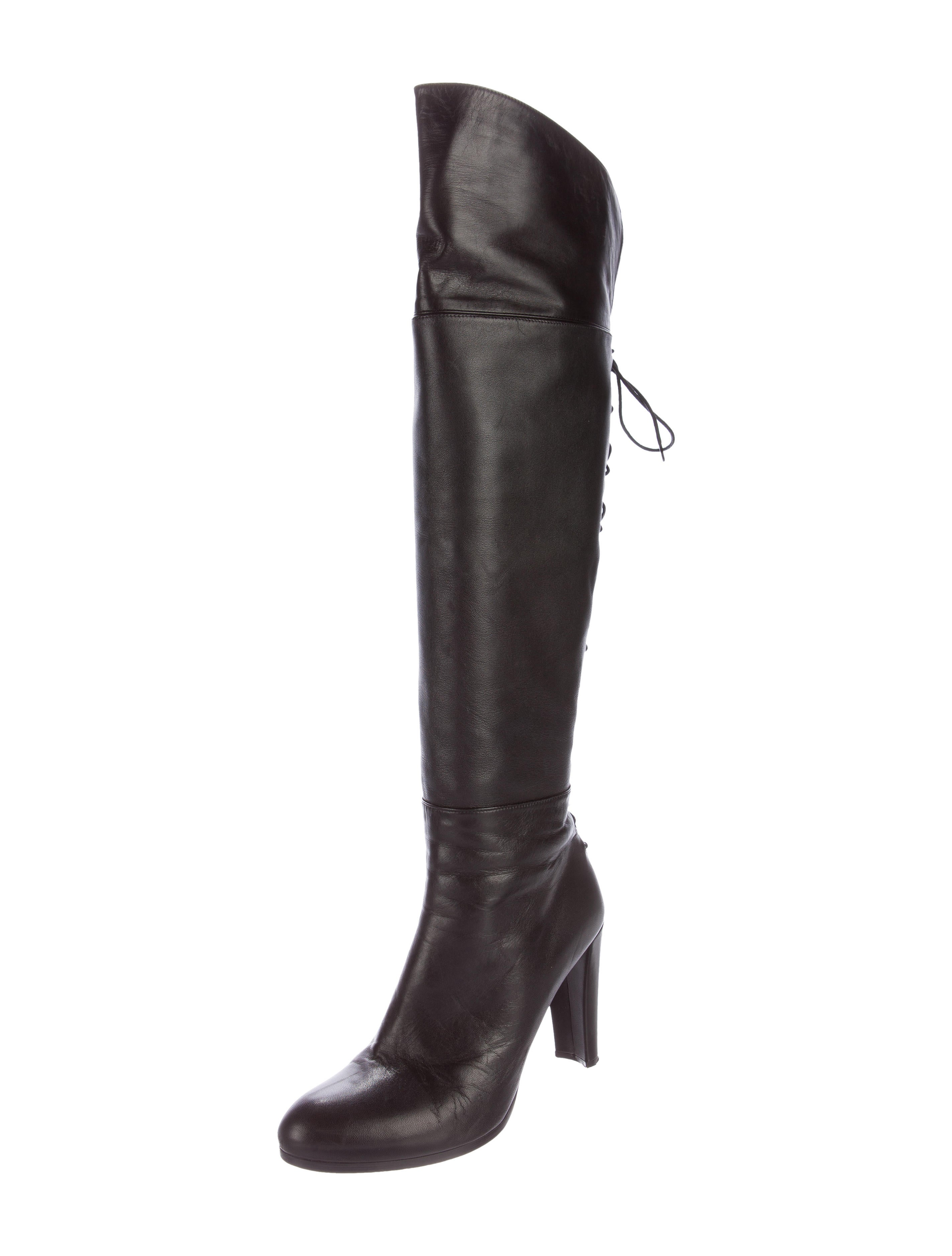Stuart Weitzman Lace-Up Over-The-Knee Boots