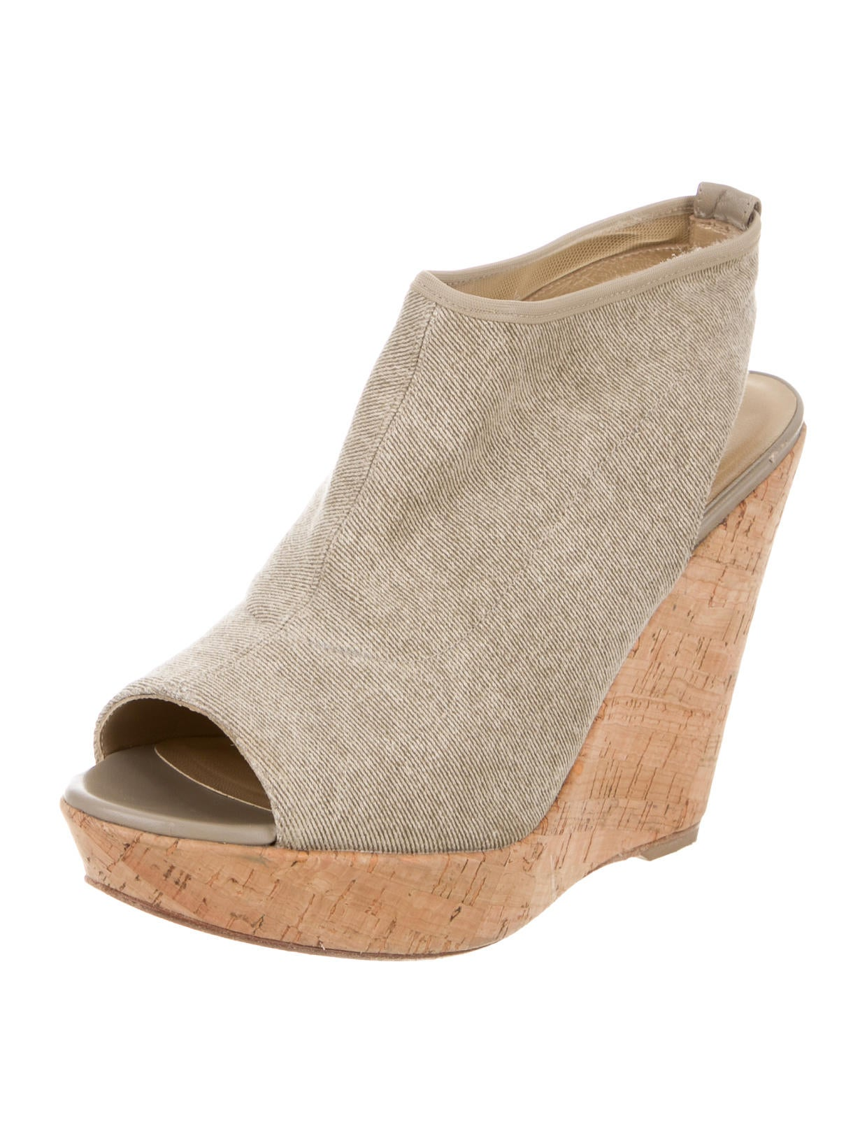 stuart weitzman canvas wedge sandals shoes wsu27599