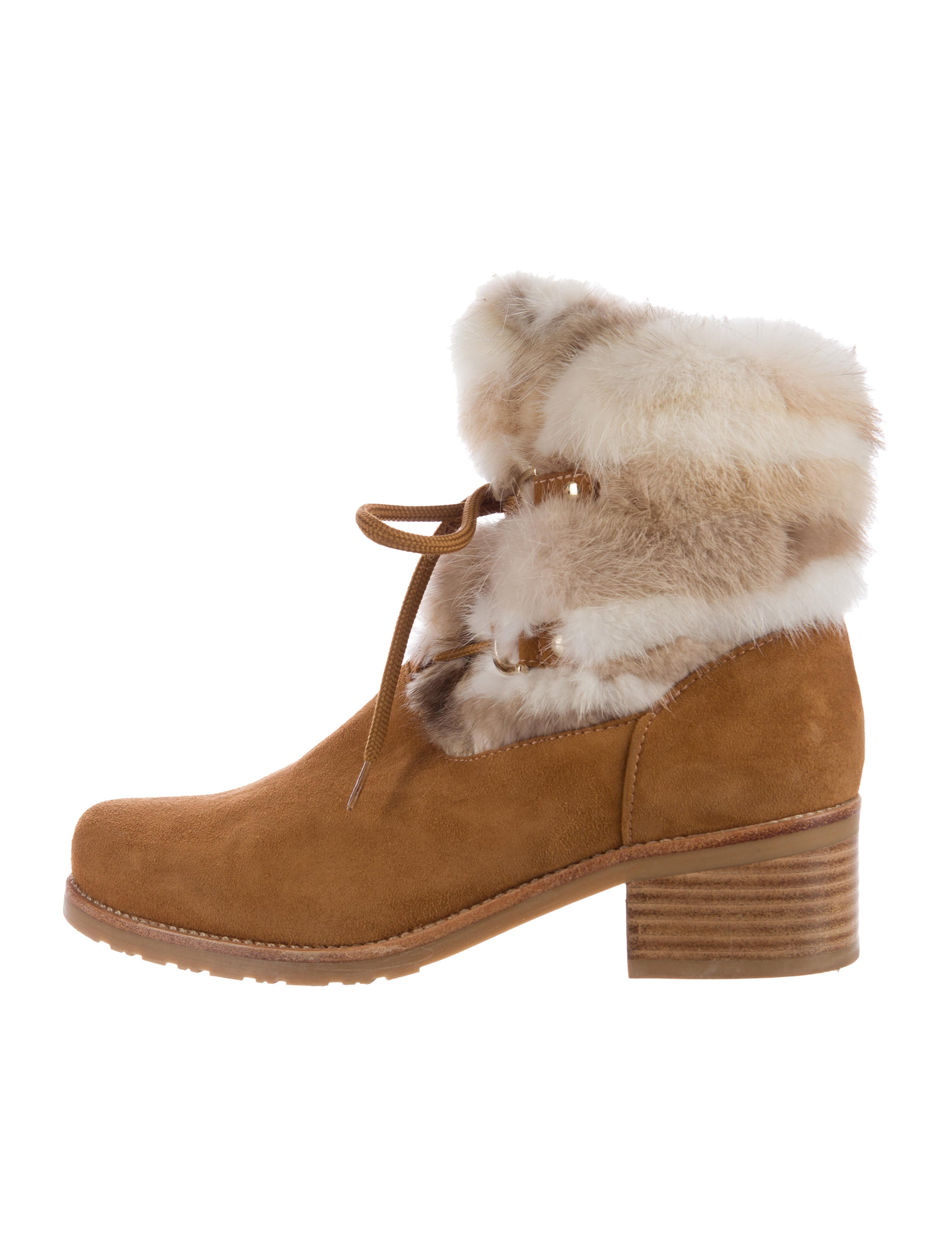 3027d190780 Stuart Weitzman Furnace Mink-Trimmed Ankle Boots - Shoes - WSU28628 ...
