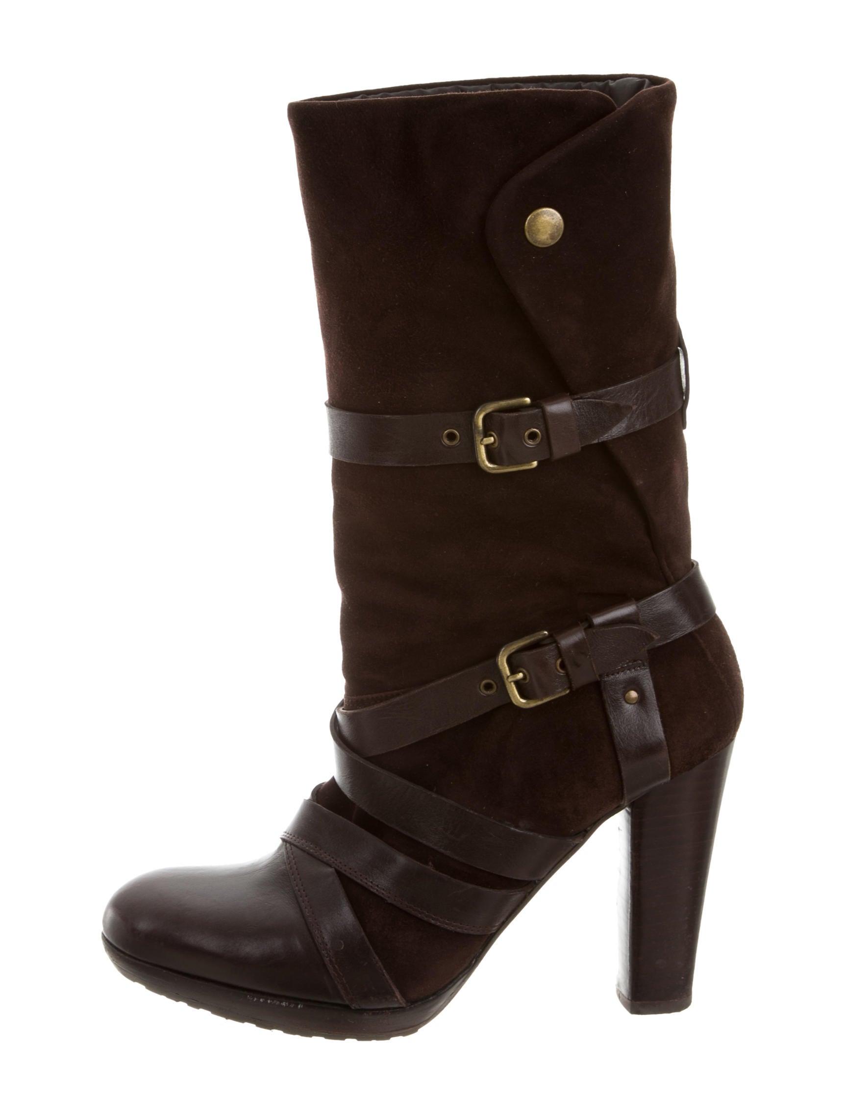 stuart weitzman platform suede ankle boots shoes