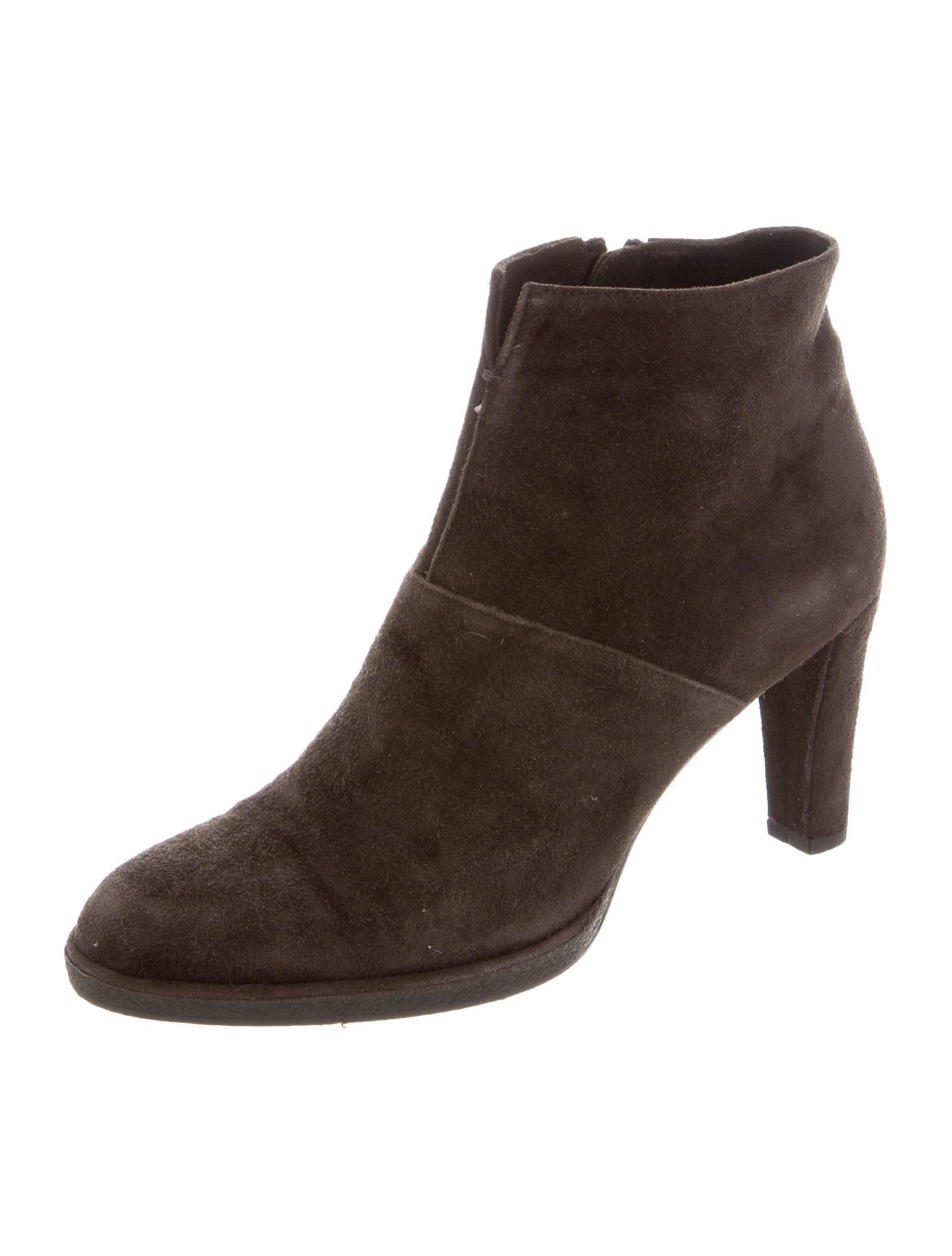 stuart weitzman suede toe ankle boots shoes