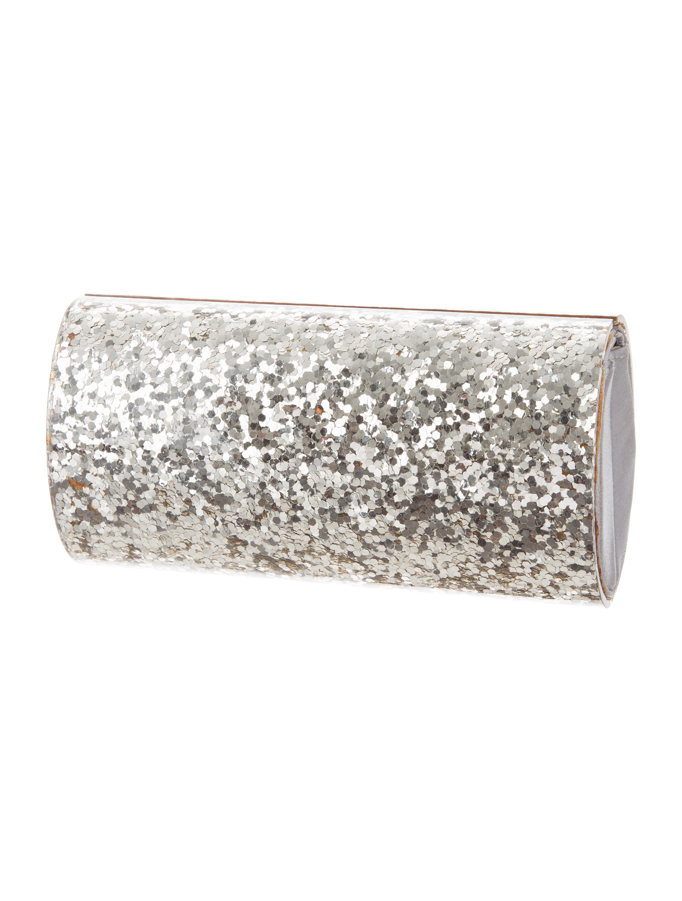 Clutch Lining Adhesive : Stuart weitzman acrylic glitter clutch handbags