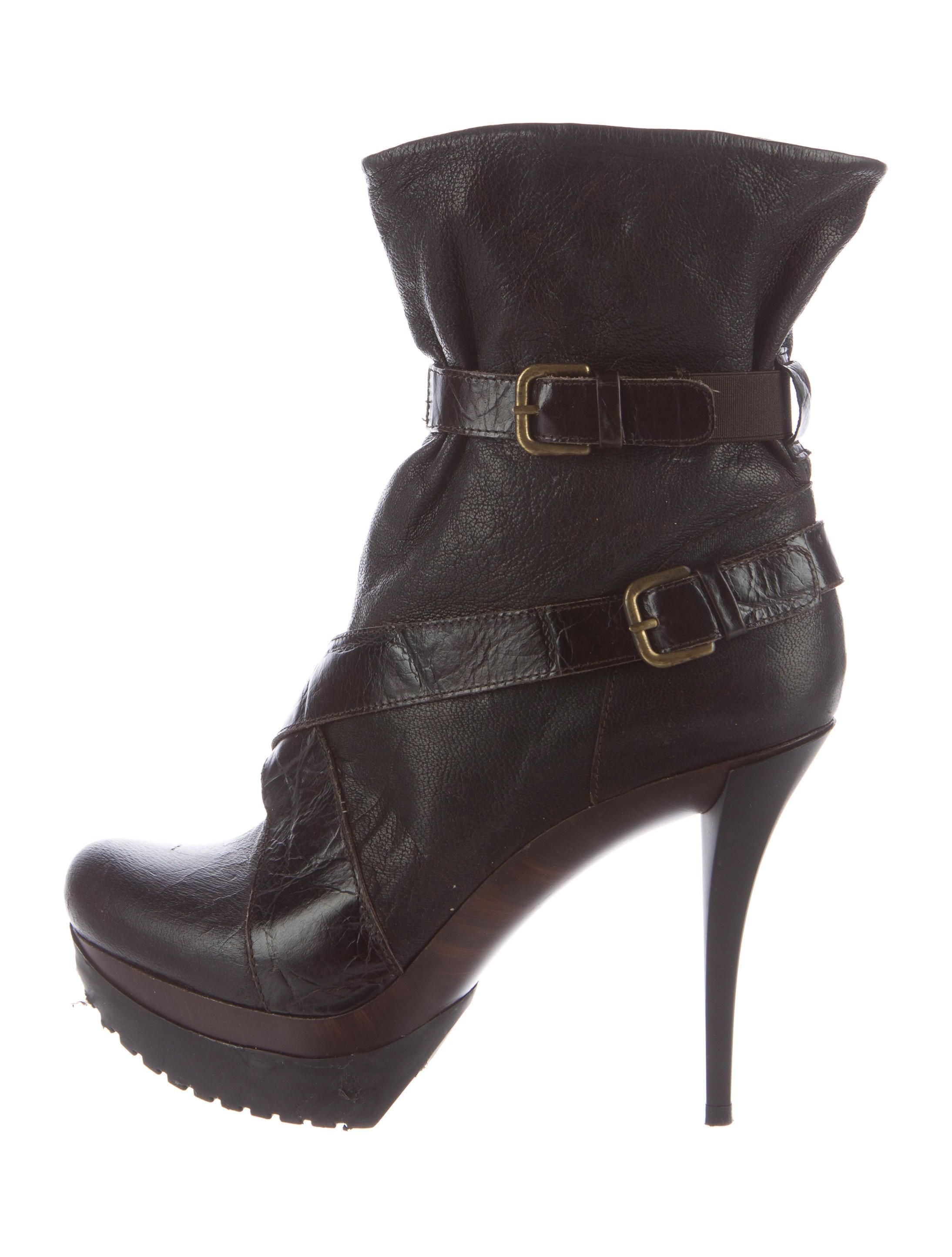 stuart weitzman leather platform boots shoes wsu31765