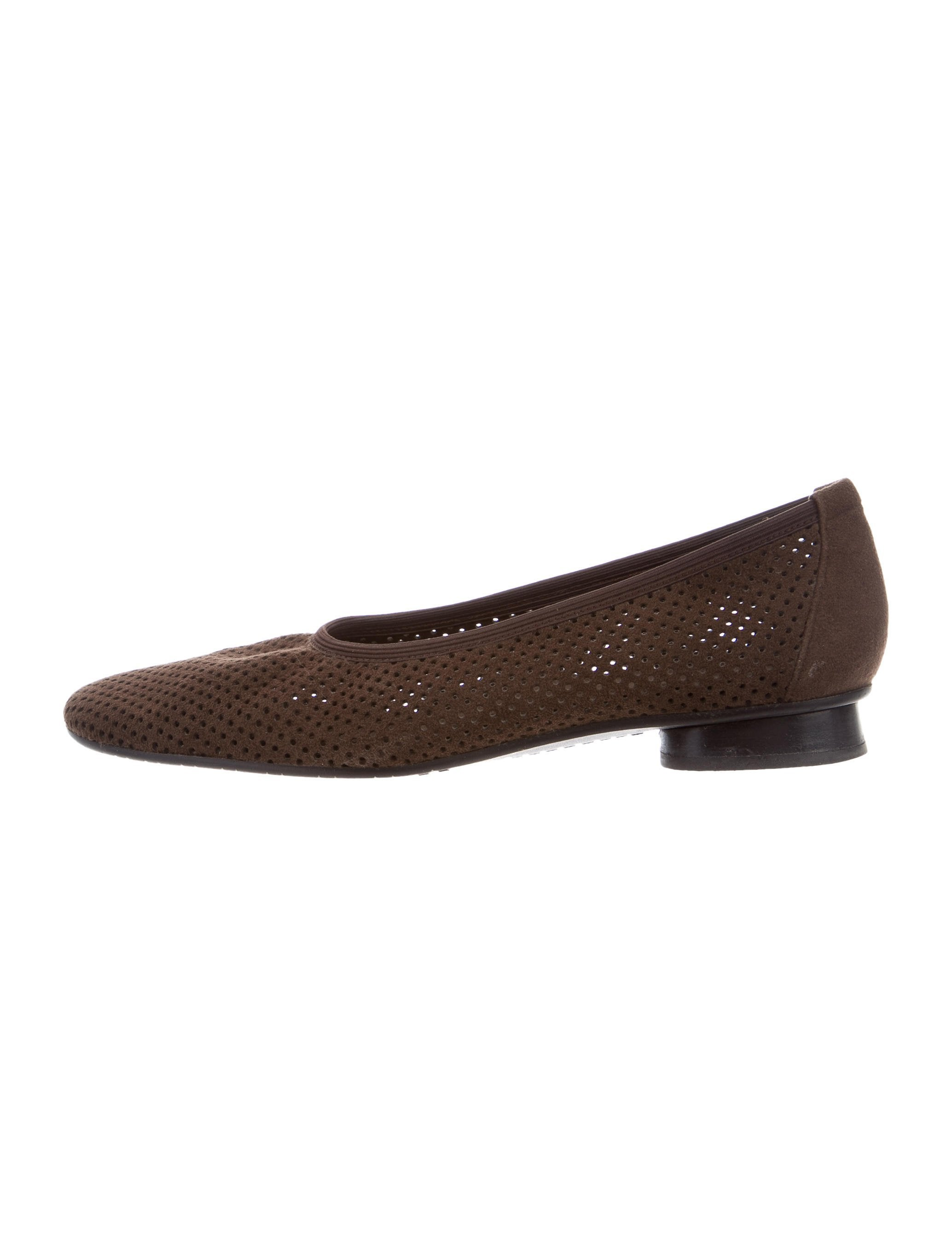 amazing price cheap price 2014 unisex for sale Stuart Weitzman Suede Perforate Flats low price sale online HOk3PVEYj