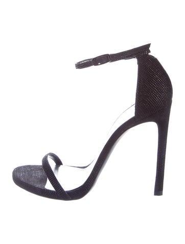 Stuart Weitzman Nudist Leather Sandals None