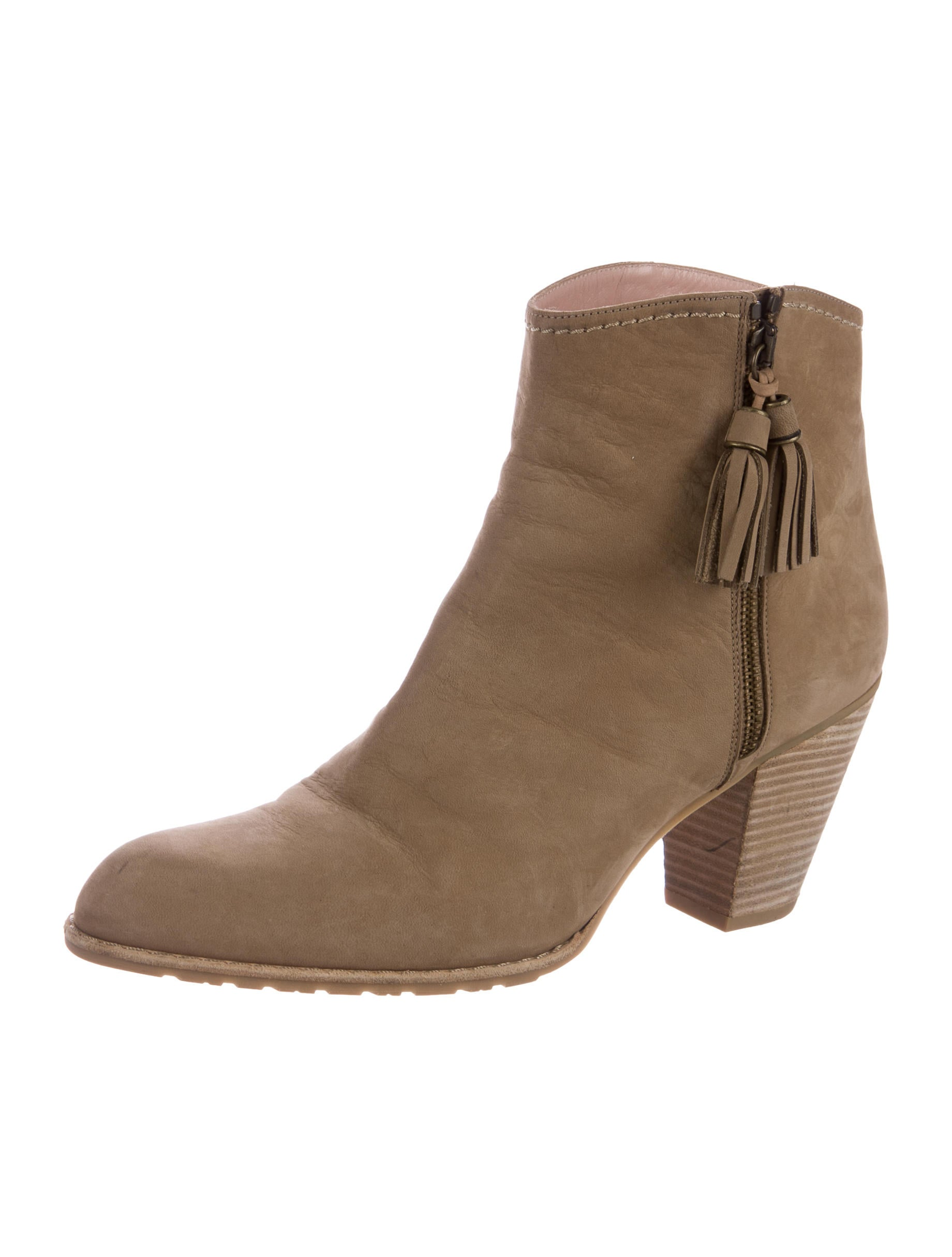 stuart weitzman suede semi pointed toe ankle boots shoes
