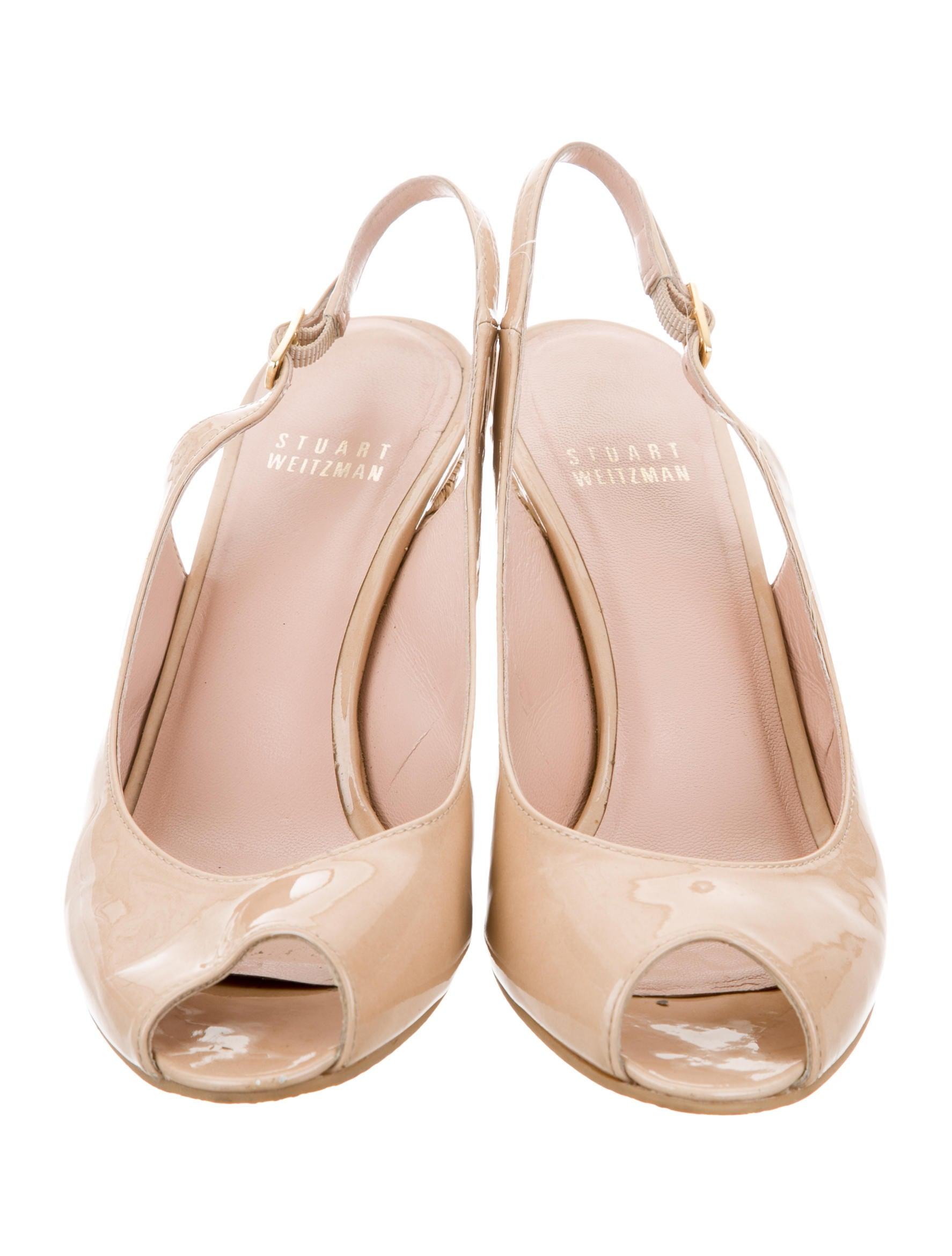 stuart weitzman slingback espadrille wedges shoes