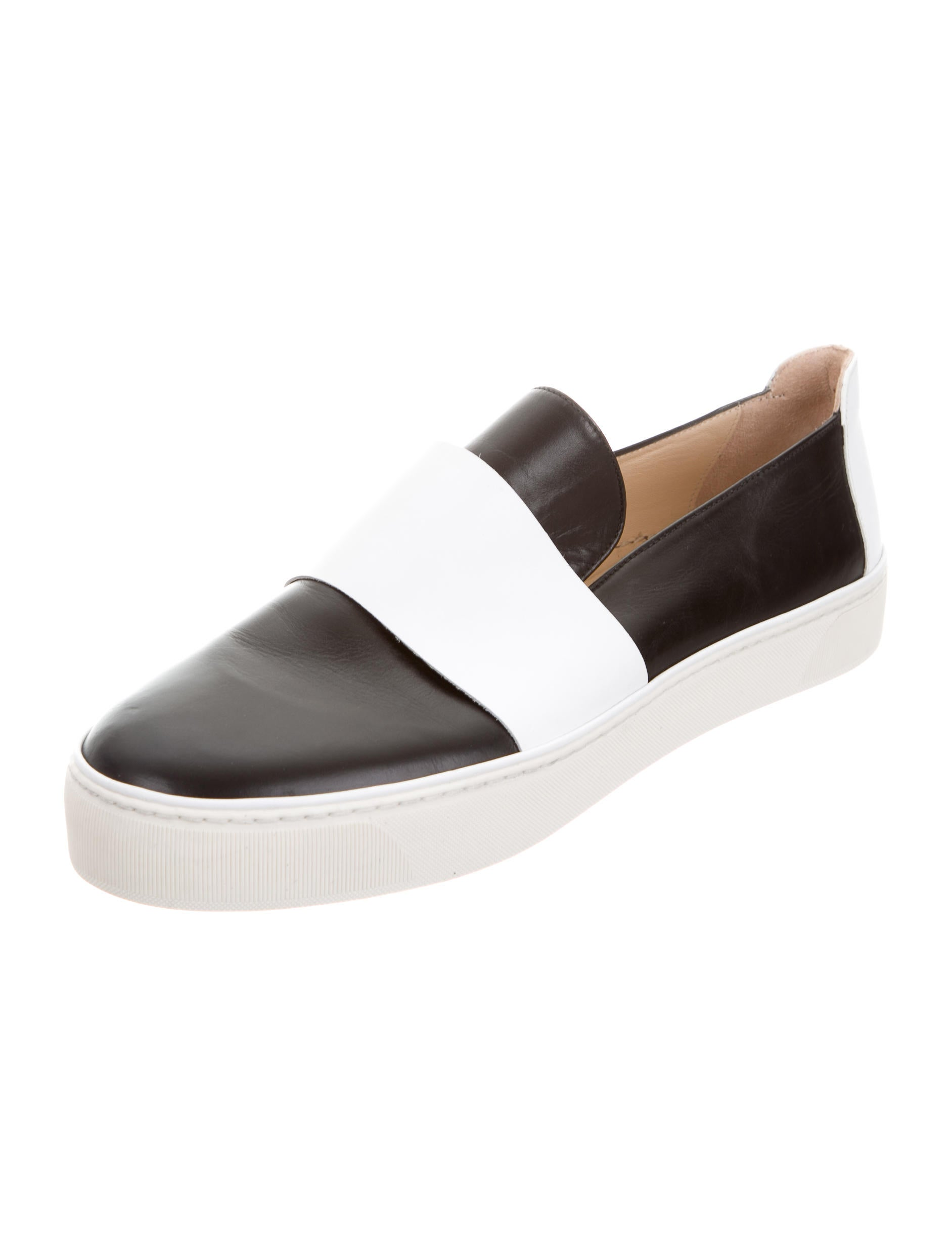 Free shipping BOTH ways on black leather slip on sneakers, from our vast selection of styles. Fast delivery, and 24/7/ real-person service with a smile. Click or call