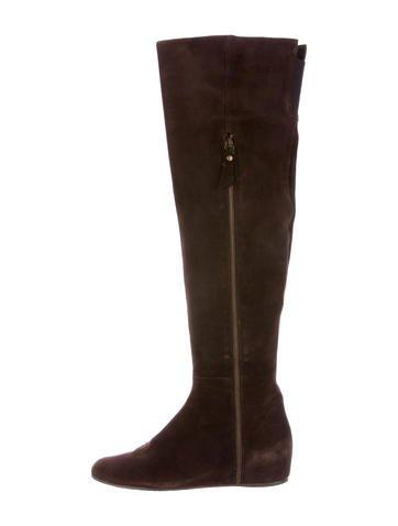 Stuart Weitzman Suede Over-The-Knee Boots None
