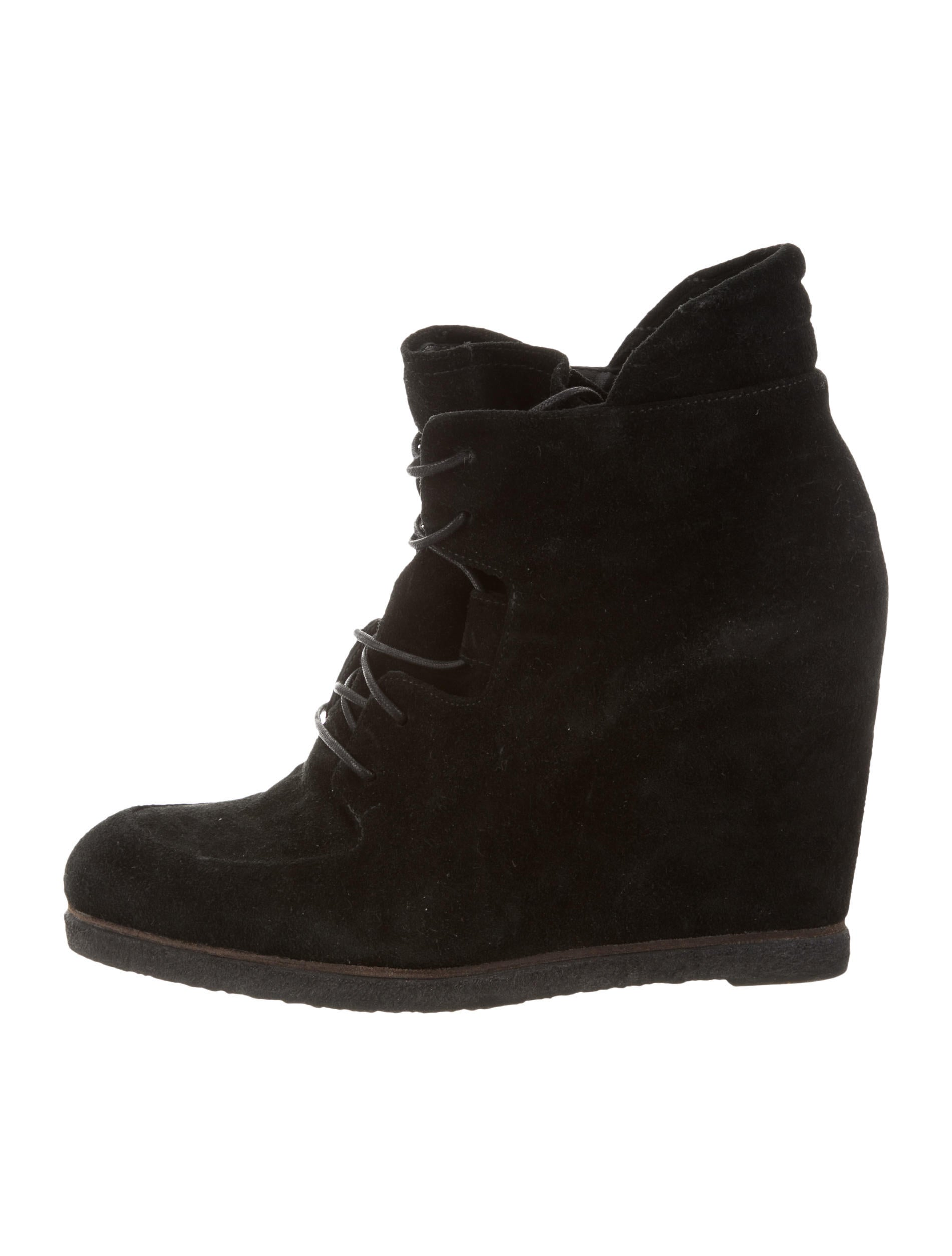 stuart weitzman suede wedge ankle boots shoes wsu33431