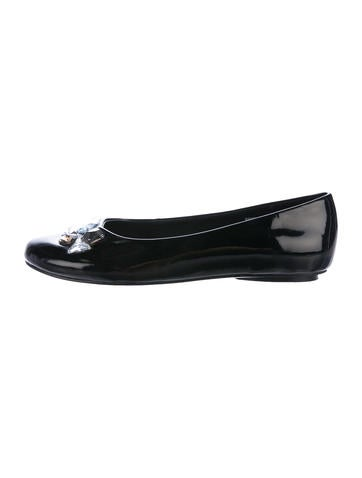 free shipping limited edition Stuart Weitzman Prism Round-Toe Flats wide range of sale online Q378aST8Ex