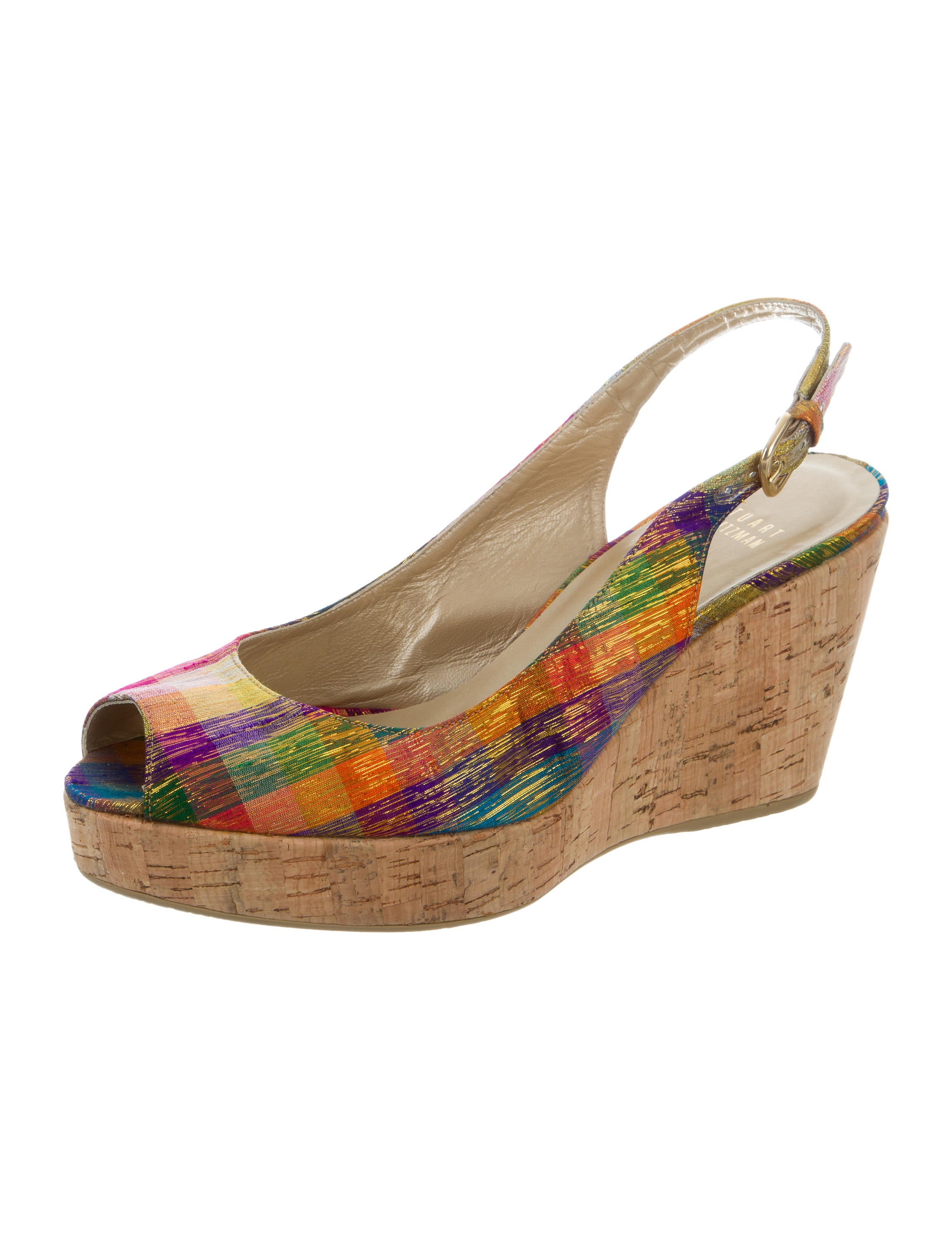 stuart weitzman canvas wedge sandals shoes wsu33751