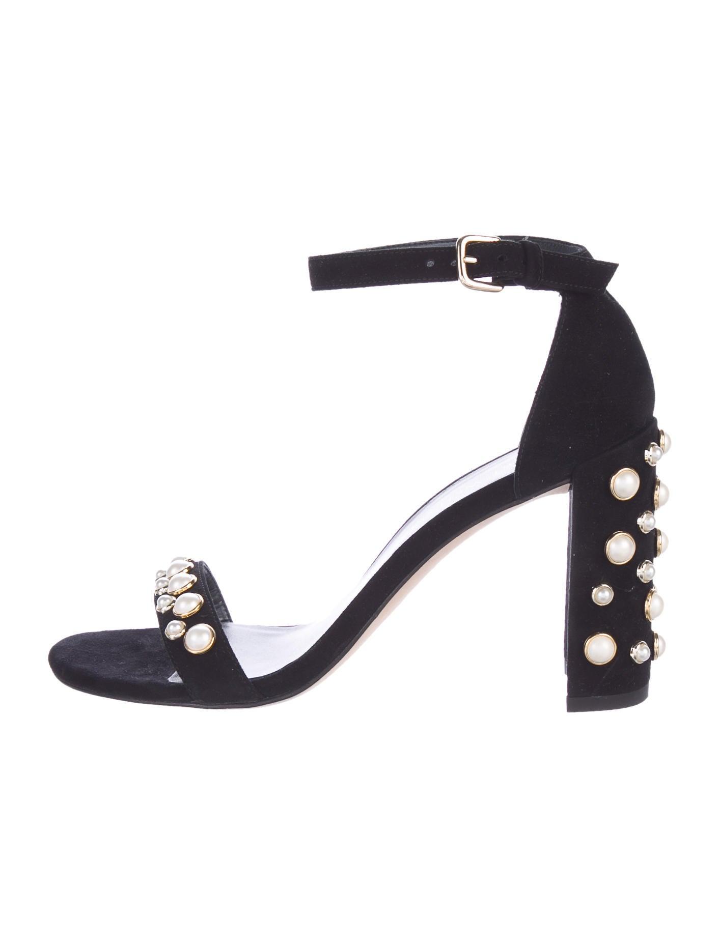 5163ba99504 Stuart Weitzman Morepearls Suede Sandals - Shoes - WSU33774