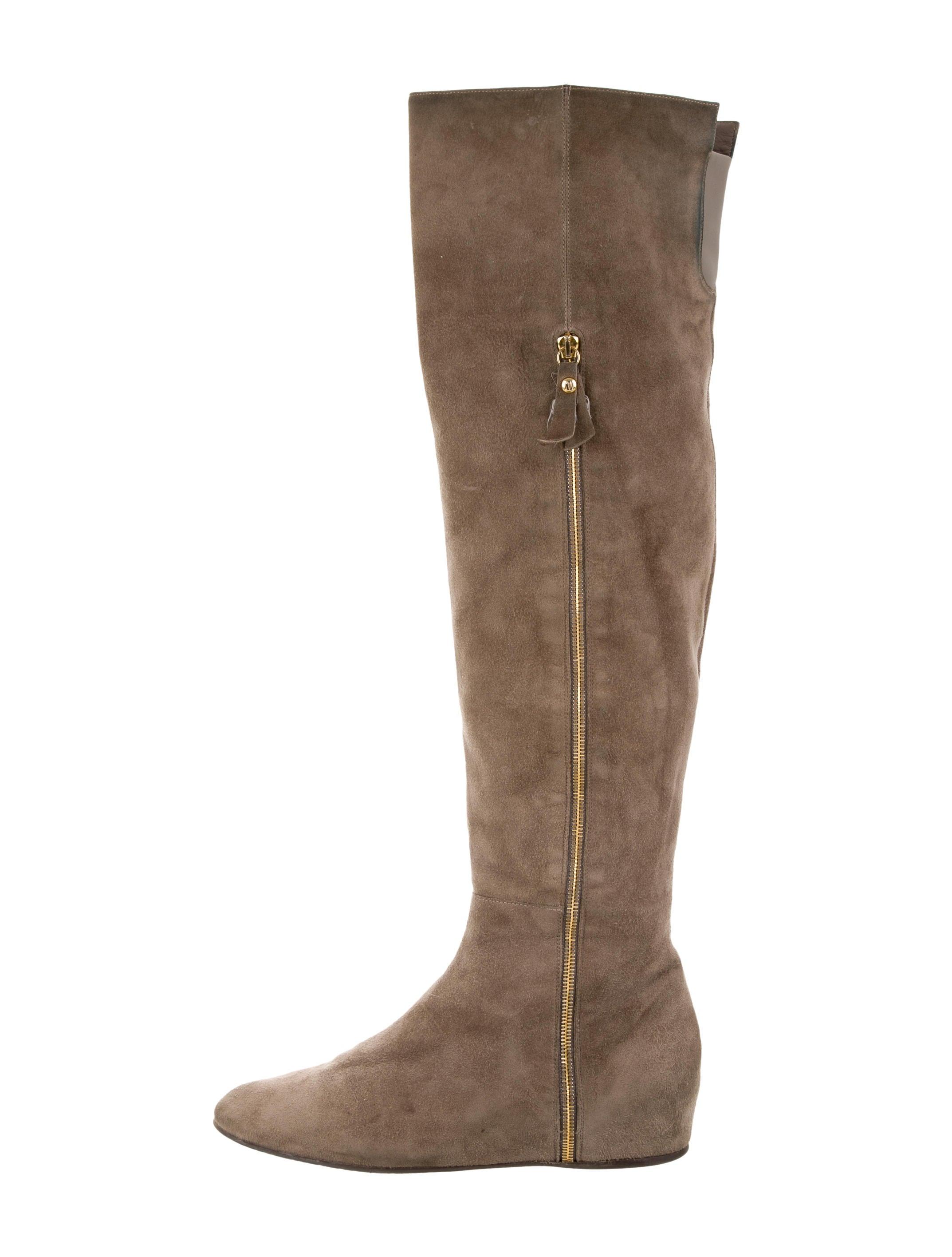 stuart weitzman the knee wedge boots shoes
