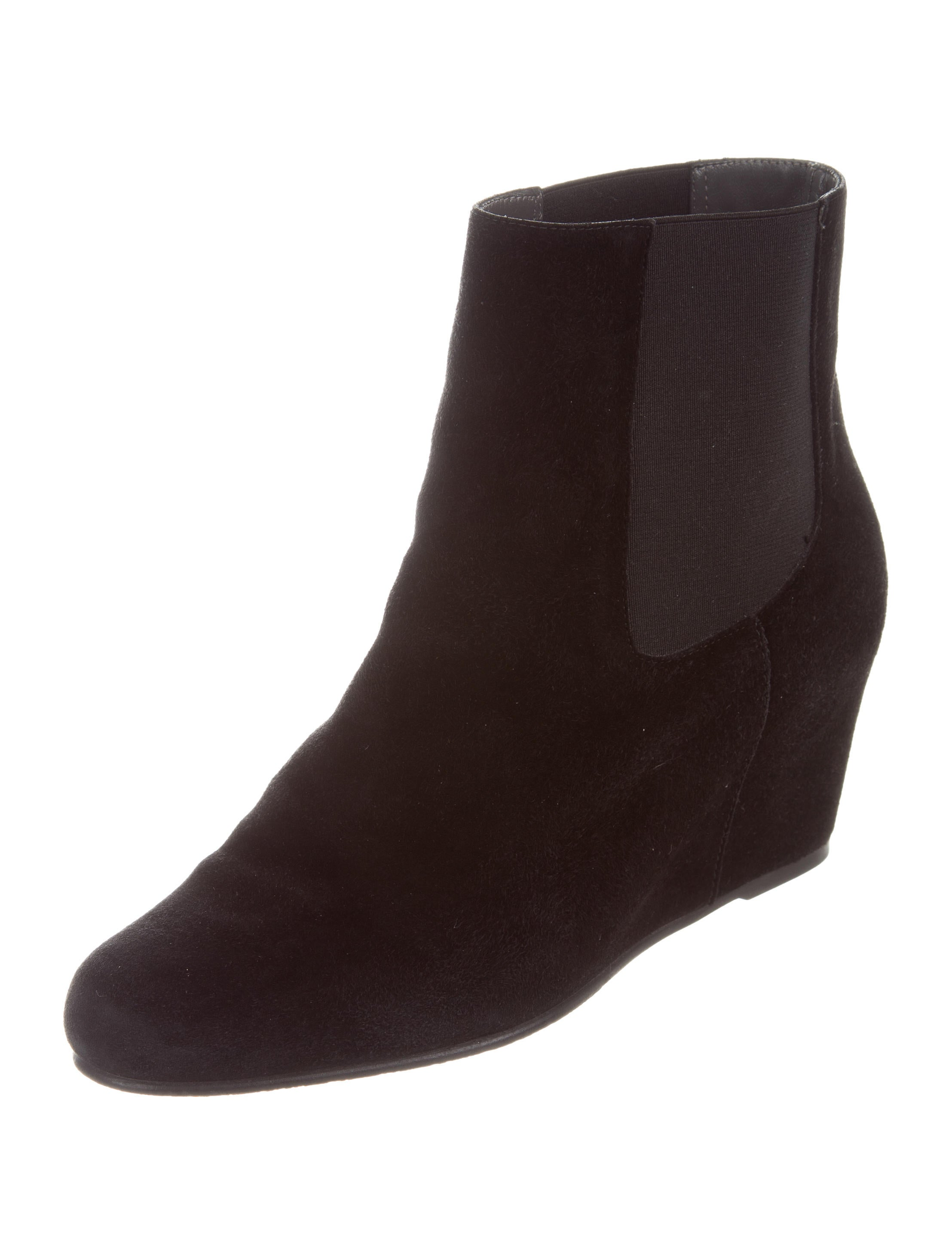 stuart weitzman suede wedge ankle boots shoes wsu35132